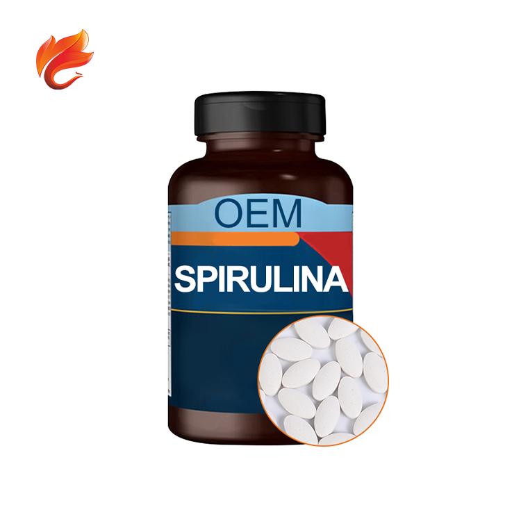 Пищевая добавка для здоровья от производителя, спирулина в капсулах, органические спирулиновые таблетки