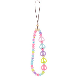 Amazon Rope for Cell Phone Case Hanging Cord Beads Heart Round Egg Beads Phone Lanyard Smile Clay Resin Cell Phone Chains