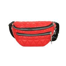 Практичная сетчатая поясная сумка с узором для женщин, поясная сумка из искусственной кожи на молнии, дорожная нагрудная сумка, винтажные с...(Китай)