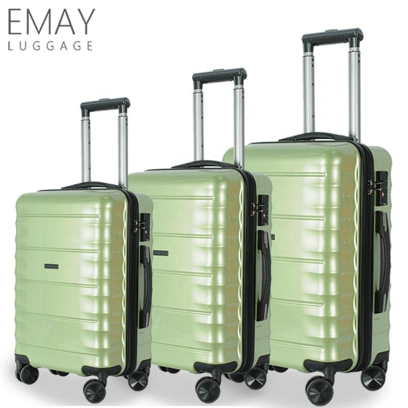 Новый дизайн 2019 года, чемоданы из АБС-пластика для багажа, дорожные сумки, набор из 3 предметов