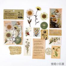 INS стиль цветы растения насекомое масло бумага ремесло карты журнал пуля Скрапбукинг материал бумага руководство ломо карты(Китай)