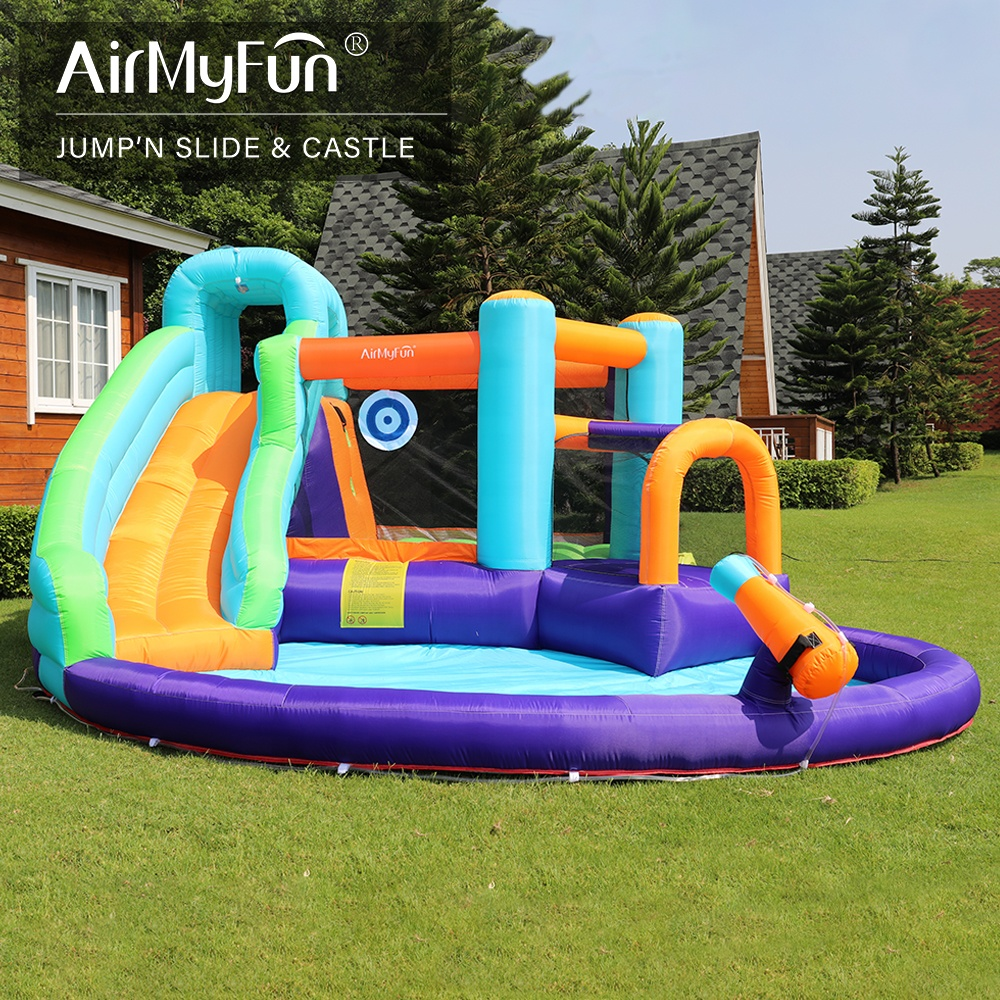 Home Use Cheap Big Bouncy Castle for Kids, Commercial Inflatable Water Slide Clearance Bounce House Obstacle Course Sale