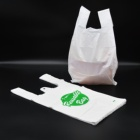 Bag Plastic Shopping Plastic Bags Eco Hot Sale Recycle White Grocery Bag Vest Bag Supermarket Shopping Tshirt Plastic Bag With Customized Logo