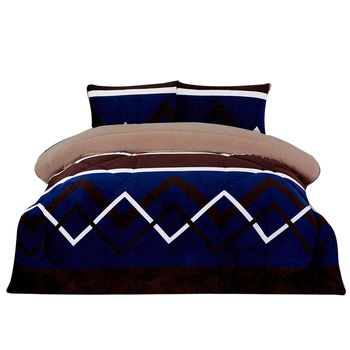 Hot Sale Luxury Eglant Royal Comfort 3PC Borrego Blanket Flannel Set Factory