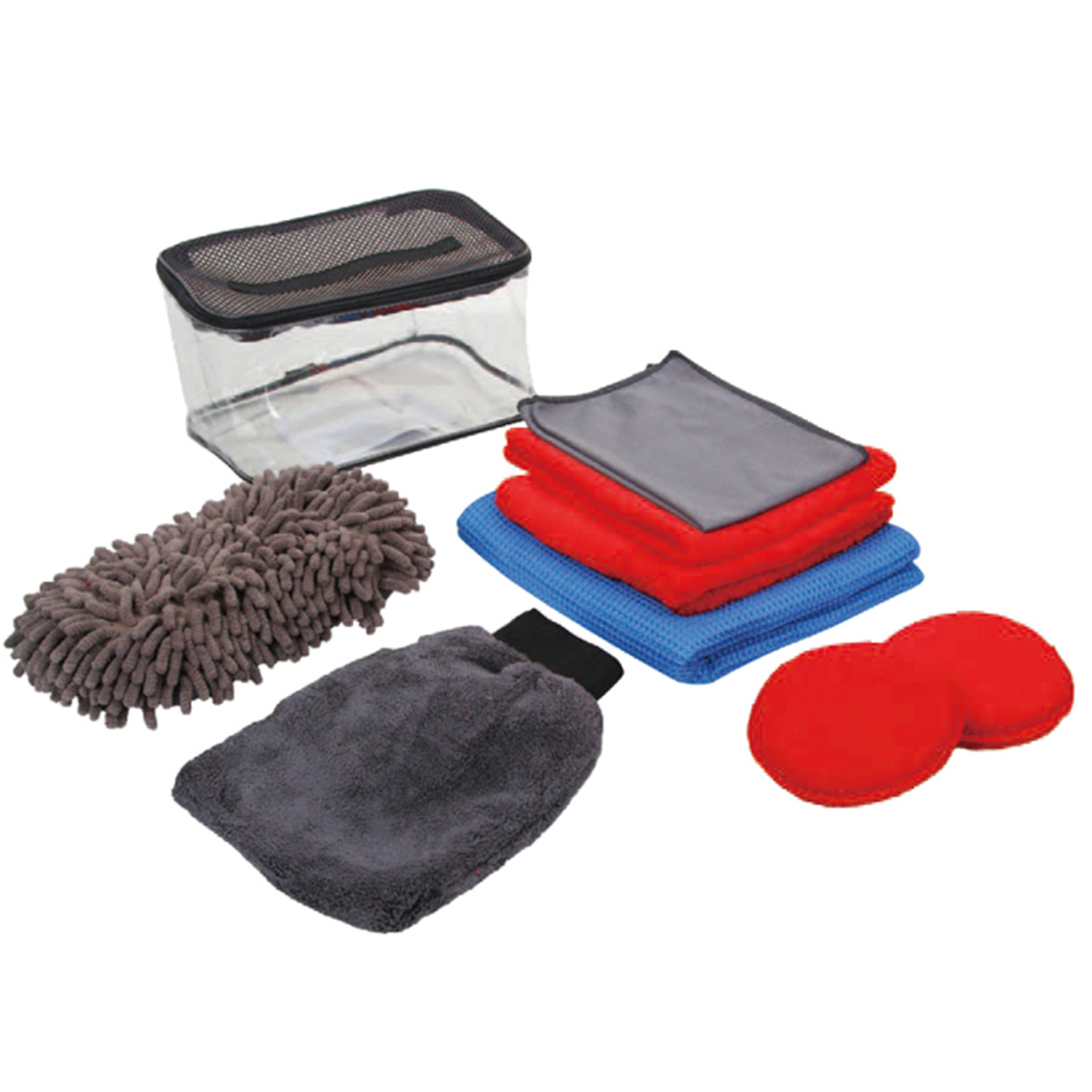 Car cleaning products with 2 waxing pads, wash mitt car cleaning
