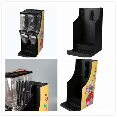 Выставочная стойка и витрина Ecobox для закусок и конфет с гравитационным дозатором для супермаркета