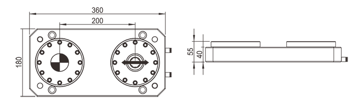 pneumatic zero point work holding chuck with base plate ER-041600