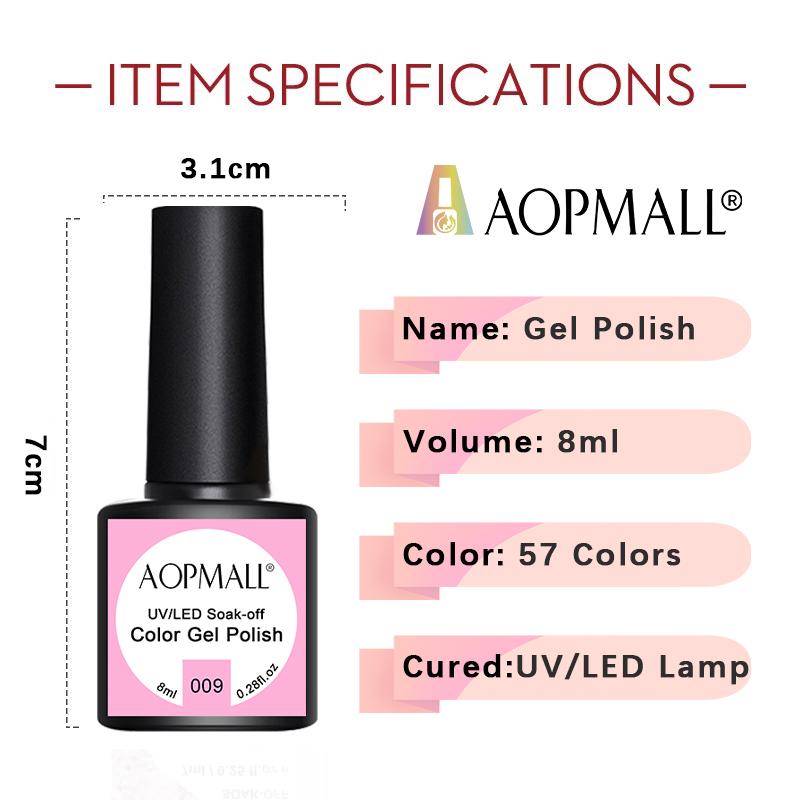 AOPMALL Raw Material Color Wholesale Gel Polish UV/LED Poly Gel 1KG 5KG 10KG Nail Art UV Gel Polish