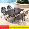 8-4 стула 1 косая Линия Дизайн прямоугольный стол 175 см