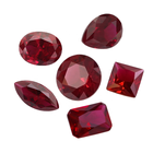 Gemstones Sale China Us Ruby Shape Oval Cut Ruby 8# Synthetic Stone Loose Gemstones
