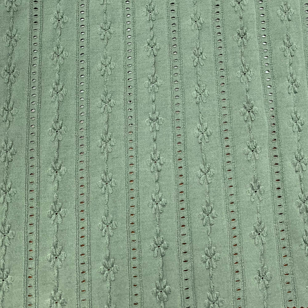 Flowery Design Knitted Jacquard Polyester Elastic Fabric Solid Color Swimwear Fabric For sale