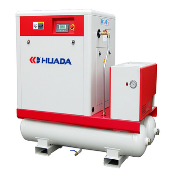 8bar 10bar 30HP 22KW screw air compressor with 500L air tank with air dryer with frequency invert