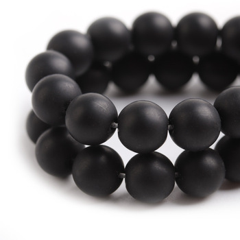 High Quality Matte Black Glass Beads For Jewelry Making (PGB006)