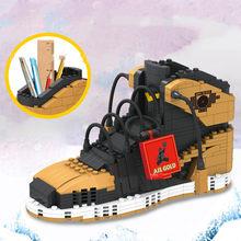 474 шт. спортивная обувь держатель ручки спортивная баскетбольная обувь строительные блоки кирпичи маленькие частицы пенал игрушки для дете...(Китай)