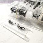 Eyelash Eyelashes Mink Eyelash Full Strip Lashes Handmade Fluffy Mink Eyelash Vendor Customized False Eyelashes Eyelashes Wholsale Glue
