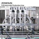 Of Filling Machine Automatic Jar Labelling Machine ZONESUN ZS-FAL180P8 4 Heads Bottle Jar High Speed Servo Full Automatic Line Of Filling Capping And Labeling Machine For Oil
