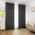 A Black curtains for the living room linen blackout curtain window