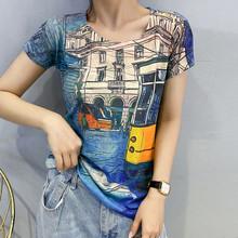 Женская футболка с принтом Modis, летняя футболка с коротким рукавом и круглым вырезом, тонкая графическая футболка, 2020(China)