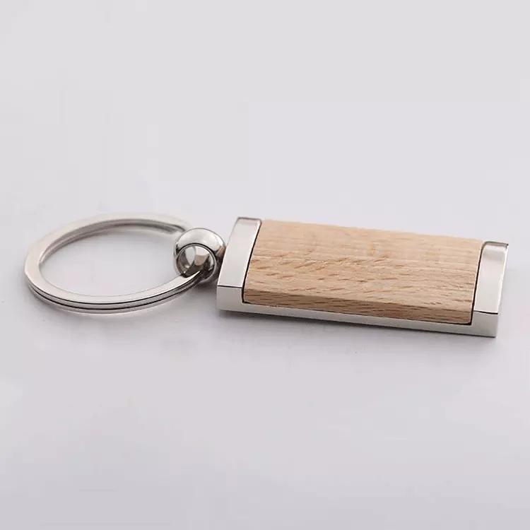 Wood Metal Key Chain Enamel Key Chain Gift  Key Chain