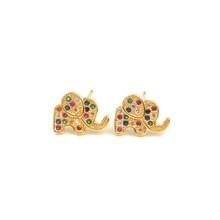 Маленькие золотые серьги с фианитами, радужные серьги в готическом стиле, очаровательные маленькие дешевые серьги-гвоздики для украшения д...(Китай)