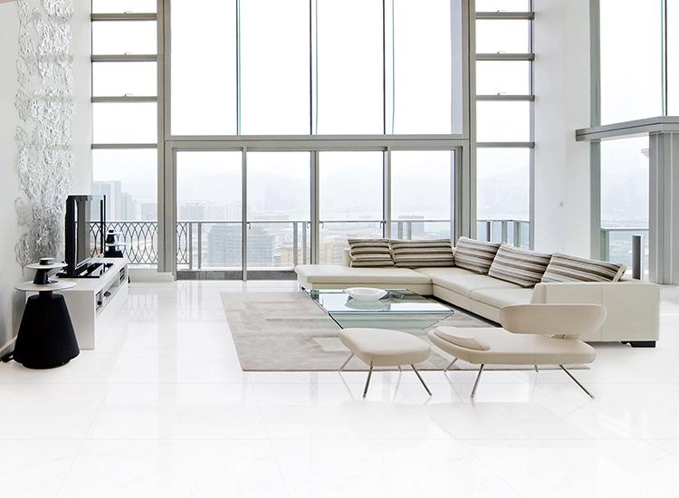 Белая фарфоровая напольная витрифицированная керамическая плитка 600*1200
