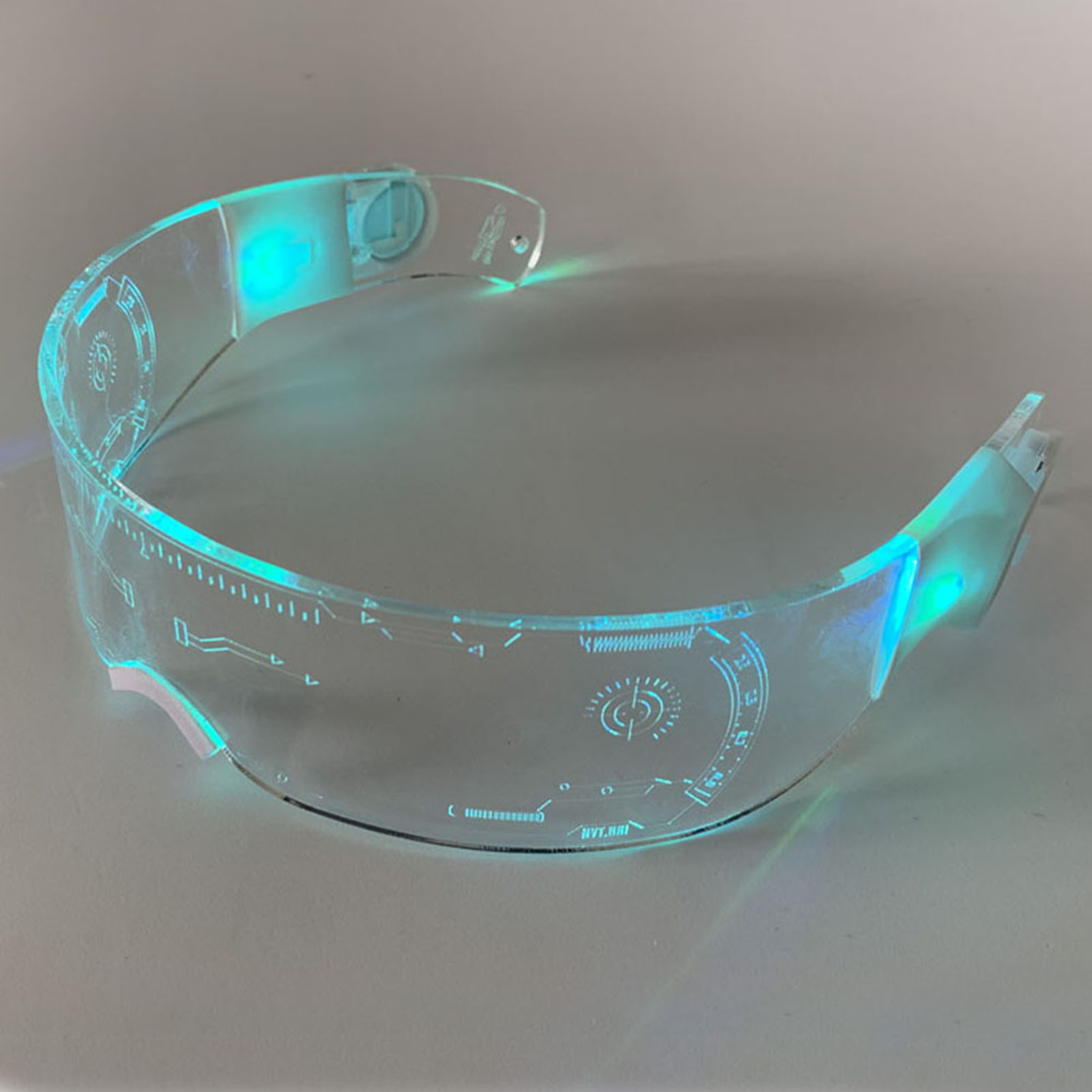LED Luminous Glasses Futuristic Electronic Visor Glasses Light Up Glasses Prop