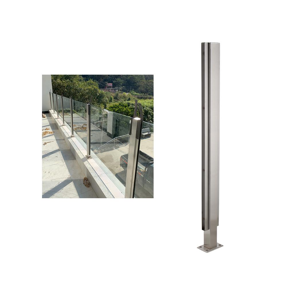 Fsjrs перила для лестницы, Хрустальная труба, конструкция перил, квадратная труба, стекло для балкона, ручные перила из нержавеющей стали, стеклянные перила для лестницы