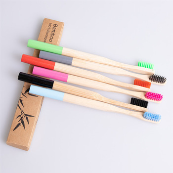 Wholesale Biodegradable Eco Friendly Children Bamboo Toothbrush For Kids