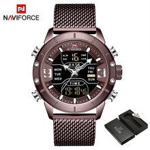 Naviforce Top Brends мужские спортивные часы, роскошные мужские наручные часы s zegarek jam tangan anti air pria, мужские часы(Китай)
