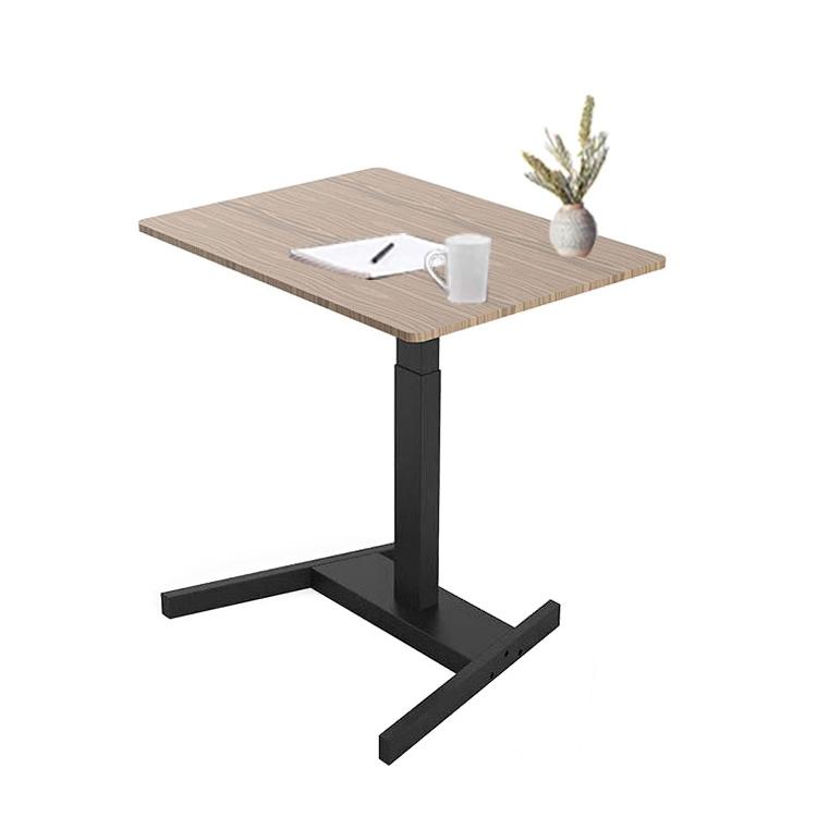 Регулируемый стол с одной ножкой на заказ, стол с модным внешним видом для переговоров