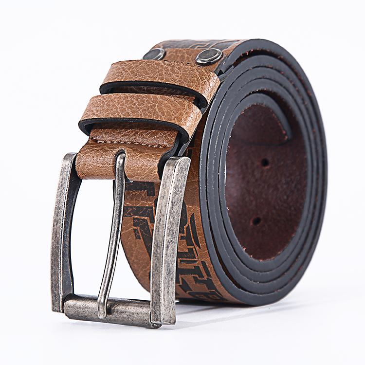 Винтажный оригинальный индивидуальный повседневный мужской кожаный ремень для джинсов