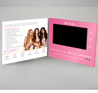 Custom Promo Video Booklet Custom 7inch Promo Digital Recordable TFT Lcd Screen Video Player Business Card Booklet