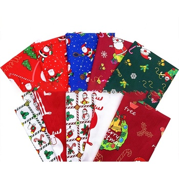 50*50cm 25*25cm 10pcs fat quarter bundle 100% cotton quilting patchwork Christmas printed craft DIY fabric