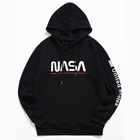 Black Hoodies Blank Hoddies Oversized Hoodies Plain Custom Mens Fashionable Clothes Nasa Letter Graphic Printed Black Hoodies Oversized Plain Blank Hoddies For Men Sudadera
