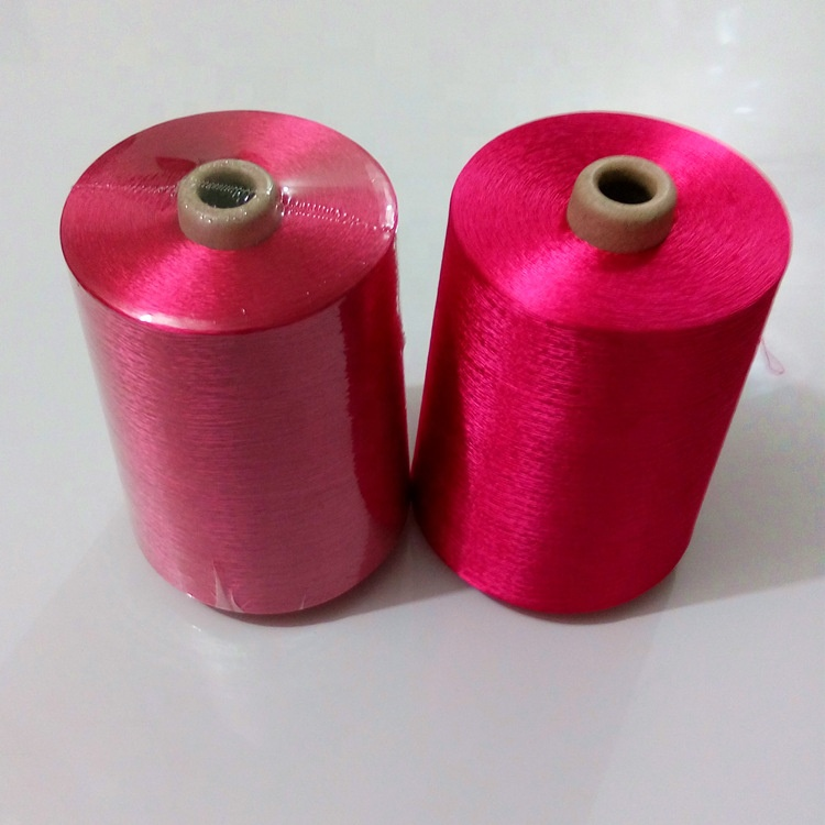 Dyed bright viscose rayon filament yarn 300D for embroidery thread