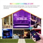 Smart App Controlled Waterproof Tape Light 60 Leds/m Music Sync Color Changing Decoration For Home Bedroom Tv Party Christmas