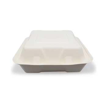 9 Inch Bagasse Disposable Food Packing Boxes