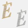 E - 18k gold or rhodium