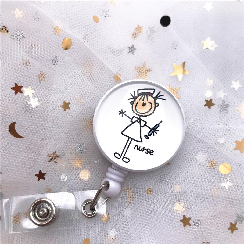 Новый качественный выдвижной значок врача медсестры модный мультяшный милый держатель для удостоверения личности для студентов