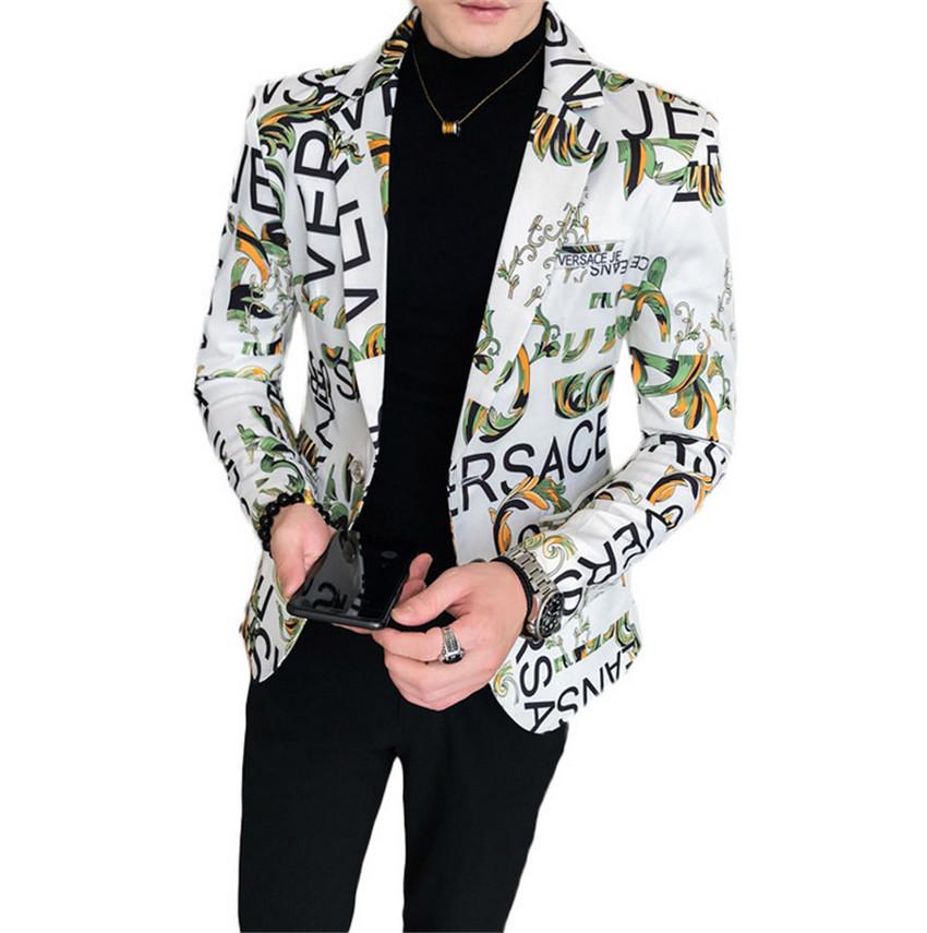 Print Cloth For Men New Product 2021 Fashion Suit Men