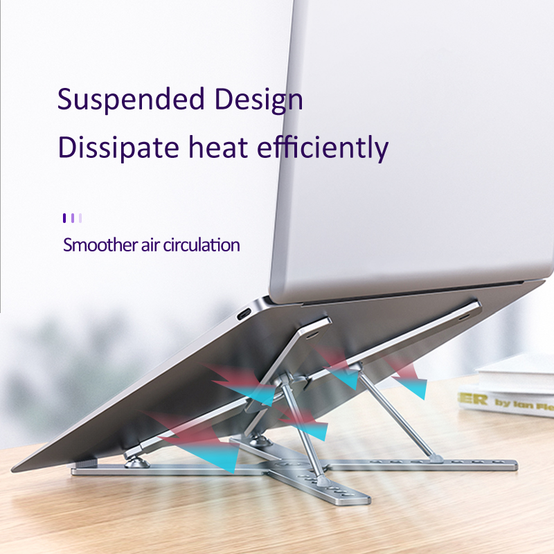 Adjustable Angle Aluminum Alloy Extendable Laptop Stand