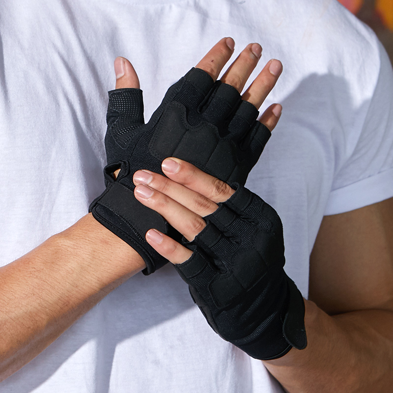 Professional fingerless cycling gloves shockproof mountain riding gloves