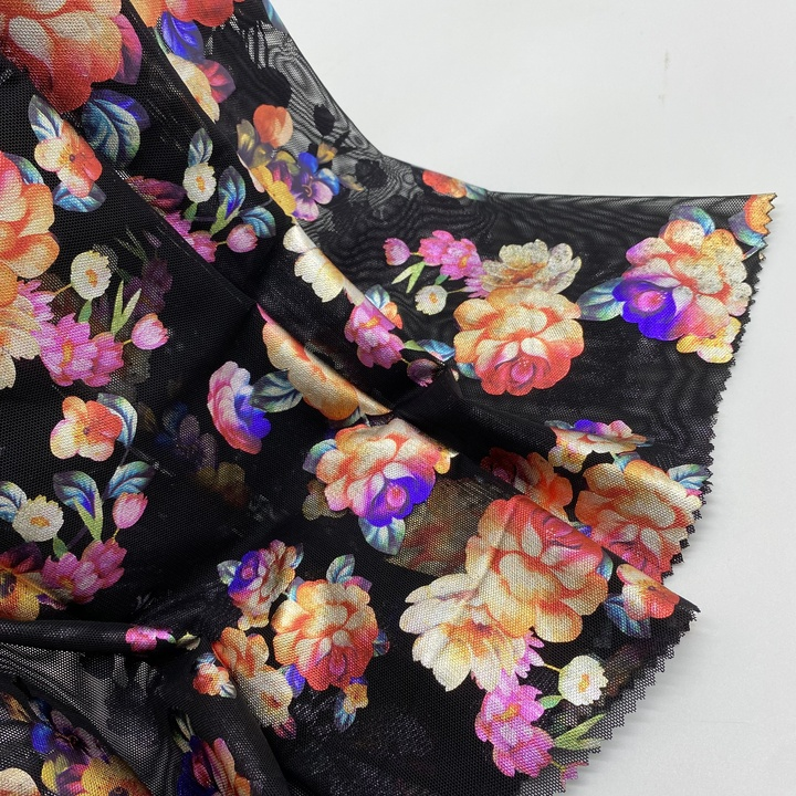 Factory Direct Custom 3d Embroidered Mesh Fabrics Solid Gradient Applique Embroidery Tulle Net Cloth For Dress