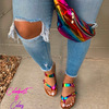 SKU07-Rainbow Side bag with Rainbow Slipper