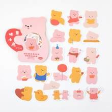 40 шт., декоративные наклейки серии Cream Rabbit and Cocoa Bear, наклейки для скрапбукинга, канцелярские наклейки для дневника, альбома(Китай)