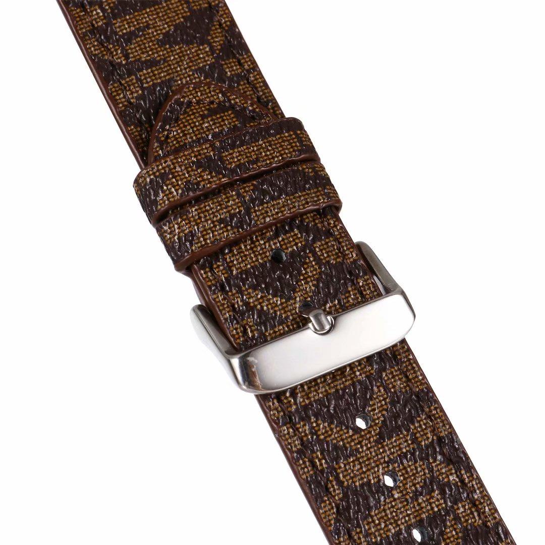 Ремешок кожаный для apple Watch series 6 5 SE, Роскошный дизайнерский браслет для наручных часов 38 40 42 44 мм
