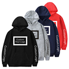 2021 custom high quality plain unisex black cotton blank printed alphalete men's streetwear pullover hoodies
