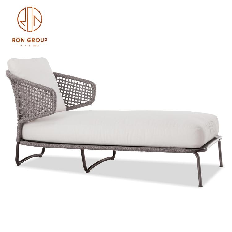 Роскошная садовая уличная мебель для отеля, палатка для курорта, мебель для патио, Трехместный садовый диван из ротанга