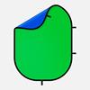Зеленый/синий