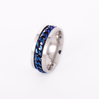 Titanium Rings Design Ring Stainless Steel Jewelry Factory Titanium Steel Chain Rings For Men Rotatable